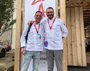Davide Di Bilio con Massimiliano Prete al simposio PizzaUp 2018