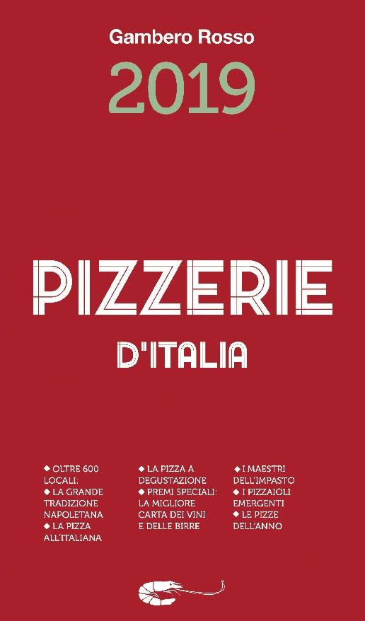 Copertina della Guida alle Pizzerie d'Italia 2019 del Gambero Rosso