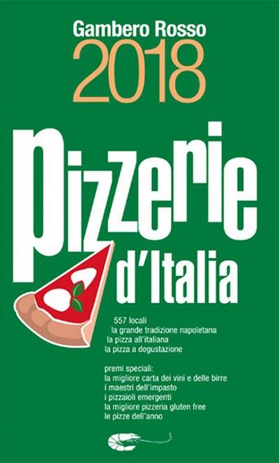 Copertina della Guida alle Pizzerie d'Italia 2018 del Gambero Rosso