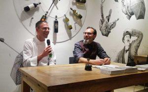 Davide Di Bilio e Antonio Bonanno - incontro di presentazione presso la Pizzeria Fuori Tempo